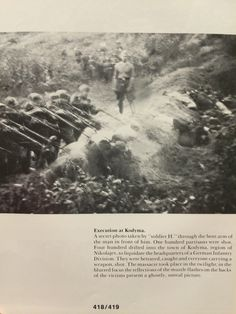 """Secret photo taken by """"soldier H"""" through the bent arm of the man in front of… Operation Barbarossa, Secret Photo, Human Dignity, Historical Pictures, Countries Of The World, World War Ii, Wwii, Sioux, Photographs"""