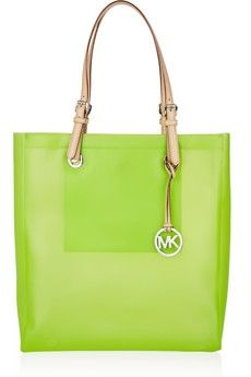 MICHAEL Michael Kors|Jet Set leather and rubber tote|NET-A-PORTER.COM - StyleSays