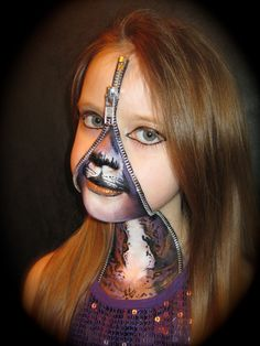 my own twist on zipper face x | Fantasy Makeup/Cosplay | Pinterest ...