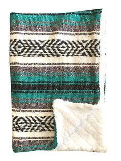0039dc95ec Baja Baby™ Mexican Baby Blanket - Classic Teal