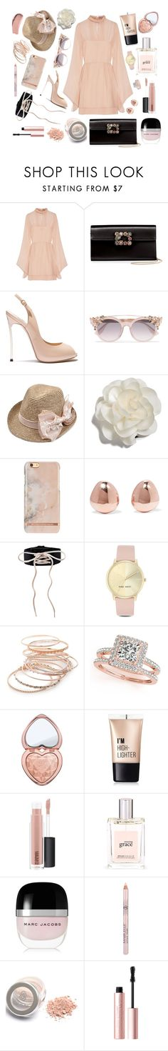 """""""Memoir"""" by deadlynight ❤ liked on Polyvore featuring Emilio Pucci, Roger Vivier, Casadei, Jimmy Choo, Cara, Monica Vinader, Nine West, Red Camel, Allurez and Too Faced Cosmetics"""
