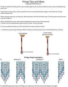 Free Beading Pattern: Fringe Tips & Ideas | Bead-Patterns.com