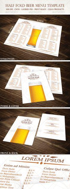 Restaurant Menu - Newspaper Style Food menu, Newspaper design - beer menu