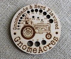 Cute Knitting Needle Gauge  METRIC  Laser Cut Wood  by GnomeAcres, $10.00