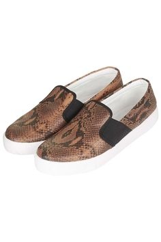 Photo 3 of TIGA Snake-Effect Skater Shoes