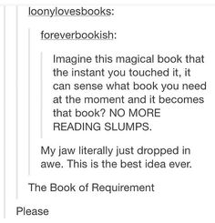 THE BOOK OF REQUIREMENT ASDFGHJKLKAJBSIBA THIS IS SUCH AN AMAZING IDEA OMG