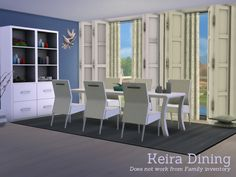 The Sims Resource: Keira Dining by Angela • Sims 4 Downloads