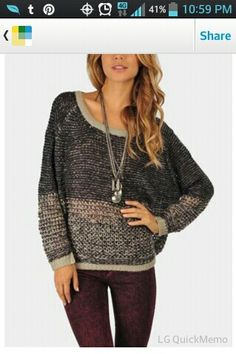Bundled up knitted sweater