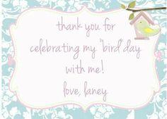 laney's tweet first birthday!  | CatchMyParty.com