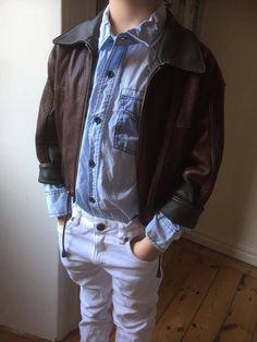Kids' /Leather /Bomber /bomber/Jacket by WifinpoofVintage on Etsy Rain Jacket, Bomber Jacket, 80s Fashion, Vintage Children, 1980s, Windbreaker, Leather Jacket, Denim, Sleeves