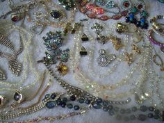 Gorgeous Vintage to Now Jewelry Lot Rhinestones Glass Crystals