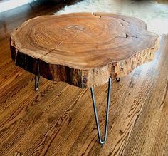 reclaimed wood stump side table | ... reclaimed wood like this Slab Side Table created by Micah Lother and
