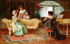 Francis Sydney Muschamp (British, 1851-1929) - The recital