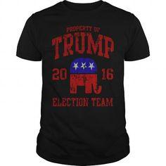 I Love  Trump for President 2016 Election Team - Men's Hoodie----NHYMMSQ Shirts & Tees