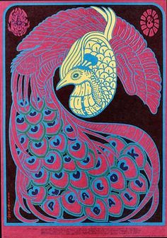 Victor Moscoso, Quicksilver Messenger Service - Peacock Ball, 1967