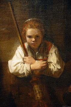 Rembrandt. A Girl with a Broom. 1651. Oil on canvas. The National Gallery of…