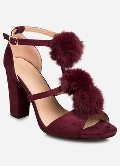 Pom Chunky Heel Sandal - Wide Width