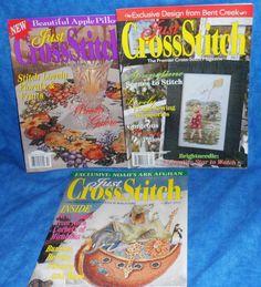 JUST CROSS STITCH 3 Magazines 04/01, 10/01, 04/02  A1 #JustCrossStitch