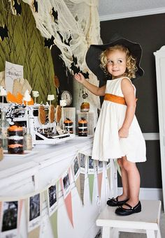 Haunted Halloween Party via Kara's Party Ideas - The Place for All Things Party! #halloweenparty #halloweendecorations #vintage #halloween