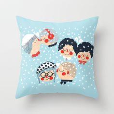 Helmikuu Throw Pillow by Petra Wolff - $20.00