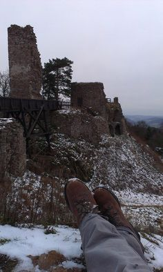 Zřícenina hradu Zubštejn ve městě Pivonice