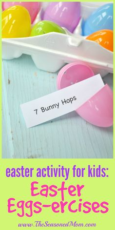 Looking for a fun Easter Activity for Kids? These Easter Eggs-ercises are a fun way to celebrate the holiday while getting your little ones up and moving!