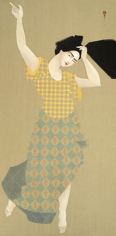 Hayv Kahraman's Art of Displacement - Read it now on Circa, the NCMA blog.  //  Hayv Kahraman, Kawliya 1, 2014, oil on linen, 96 x 48 in., Purchased with funds from the bequest of Fannie and Alan Leslie, by exchange