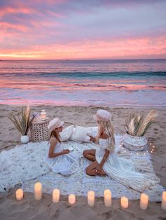 Sunset tea party with the gorgeous & her mini, both in our 'Pink - Riviera Caps'. Vacations To Go, Beach Picnic, Picnic Set, Cruise Outfits, Beach Shoot, 12th Birthday, Vacation Pictures, Lace Design, Summer Vibes