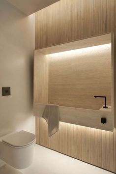 Modern Bathroom Have a nice week everyone! Today we bring you the topic: a modern bathroom. Do you know how to achieve the perfect bathroom decor? Minimalist Bathroom, Modern Bathroom, Small Bathroom, Bathroom Ideas, Warm Bathroom, Master Bathroom, Toilet Design, Bath Design, Bathroom Light Fixtures