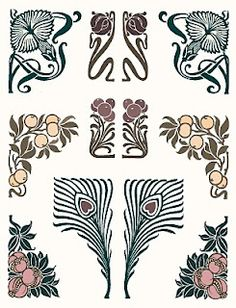 Iona's Closet: Still in Circulation: Art Nouveau Typographic Ornaments