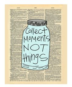 'Collect Moments' Dictionary Print