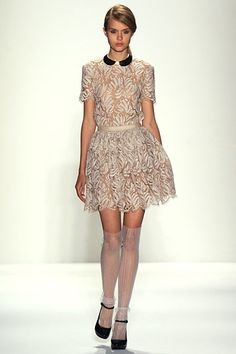 lace dress & stockings: Honor Spring 2012 RTW