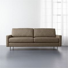 CB2 Central Sepia Sofa ($999) ❤ liked on Polyvore