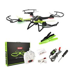 Sainsmart Jr TK 108H Quadcopter RC Drone with WIFI Live Video HD Camera One Key Return Upgraded Altitude Hold 24 Ghz Remote Control with LED Night Sight ** Visit the image link more details-affiliate link.