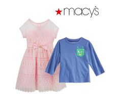 Up to 80% Off Baby Boys' Graphic T-Shirts & Baby Girls' Dresses Sale Sale (macys.com)
