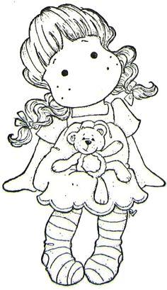 Sweet Dreams Christmas 2011 -  Sitting Tilda With Teddy Bear