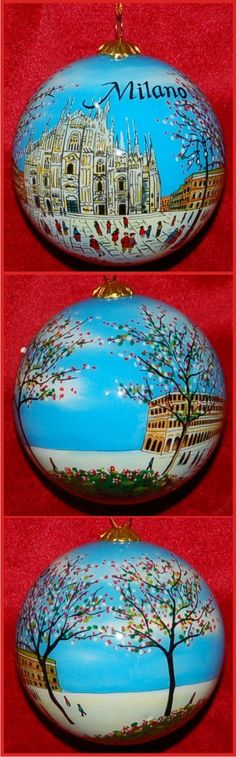 Milan Italy Christmas Ornament GOR102 by RussellRhodes on Etsy