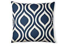 Ogee 20x20 Pillow, Navy