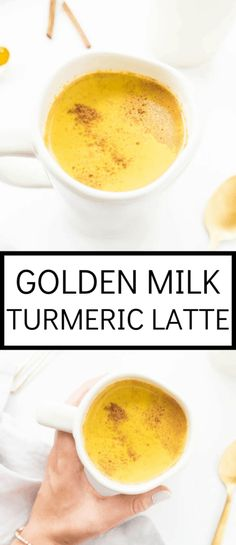Golden Milk Turmeric Latte The Glowing Fridge Yummy Drinks, Healthy Drinks, Healthy Snacks, Latte Macchiato, Best Nutrition Food, Health And Nutrition, Nutrition Products, Health Diet, Nutrition Websites