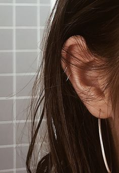 Double helix piercing #helix #piercing #double #hoop #silver
