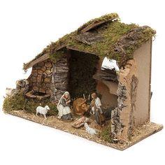 Nativity Stable, Merry Christmas, Xmas, Christmas Decorations, Christmas Ornaments, Diorama, Miniatures, Baby Shower, Bird