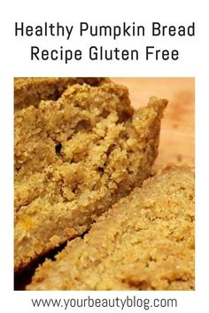 How to make flourless pumpkin bread. This recipe easy with just a few ingredients.  It