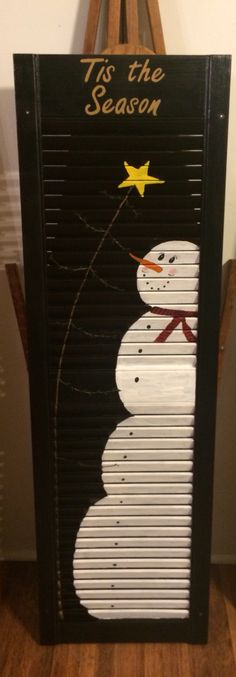 Snowman shutter I painted - Snowman shutter I painted The Effective Pictures We Offer You About wooden shutters repurposed A q - Christmas Signs, Christmas Snowman, Winter Christmas, Christmas Holidays, Christmas Decorations, Christmas Ornaments, Christmas Christmas, Snowman Crafts, Christmas Projects