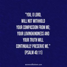 Psalm 40, Compassion, Lord, Women, Woman