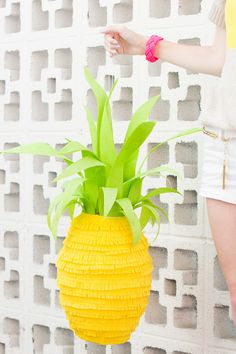 Super Cute Idea for Summer Fun! -- Pineapple Piñata