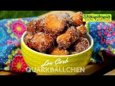 Low Carb Mini-Quarkbällchen selber machen I Nachtisch mit Quark I Low Carb Magerquark Rezepte - YouTube