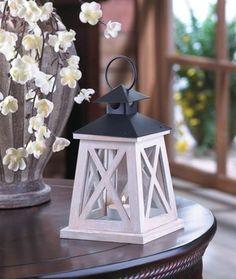 20 Brown White Distressed Rustic Wooden Lanterns Natural Vintage Style Wood Wedding