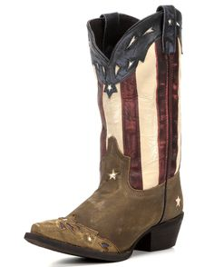 "Laredo Women's Keyes 12"" Stars & Stripes Boot - Tan  http://www.countryoutfitter.com/products/110770-womens-keyes-12-stars-and-stripes-boot-tan"