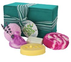 Lush  Relax More  Lie back, relax and think of bath times! With four different relaxing bath treats plus a Therapy massage bar to melt away any lingering stresses and strains, whoever gets this gift won't be able to resist relaxing more than ever before.   ($55.50)