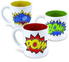 COMIC MUG SET.  I NEED THIS!!!